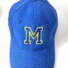 gorra de niño azul real personalizada