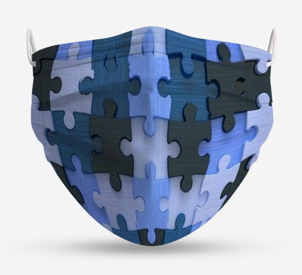 Puzle Azul mascarilla